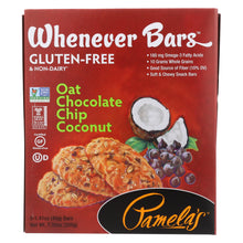 Load image into Gallery viewer, Pamela's Products - Oat Chocolate Chip Whenever Bars - Coconut - Case Of 6 - 1.41 Oz.