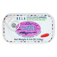 Load image into Gallery viewer, Bela-olhao Sardines In Cayenne Pepper Sauce - 4.25 Oz - Case Of 12