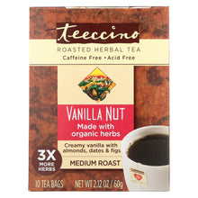 Load image into Gallery viewer, Teeccino Herbal Coffee Vanilla Nut - 10 Tea Bags - Case Of 6