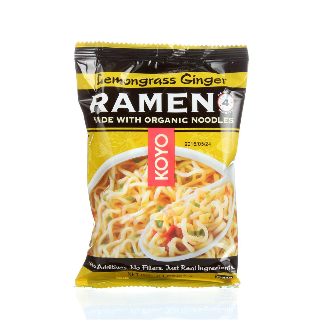 Koyo Ramen - Lemongrass Ginger - Case Of 12 - 2.1 Oz.