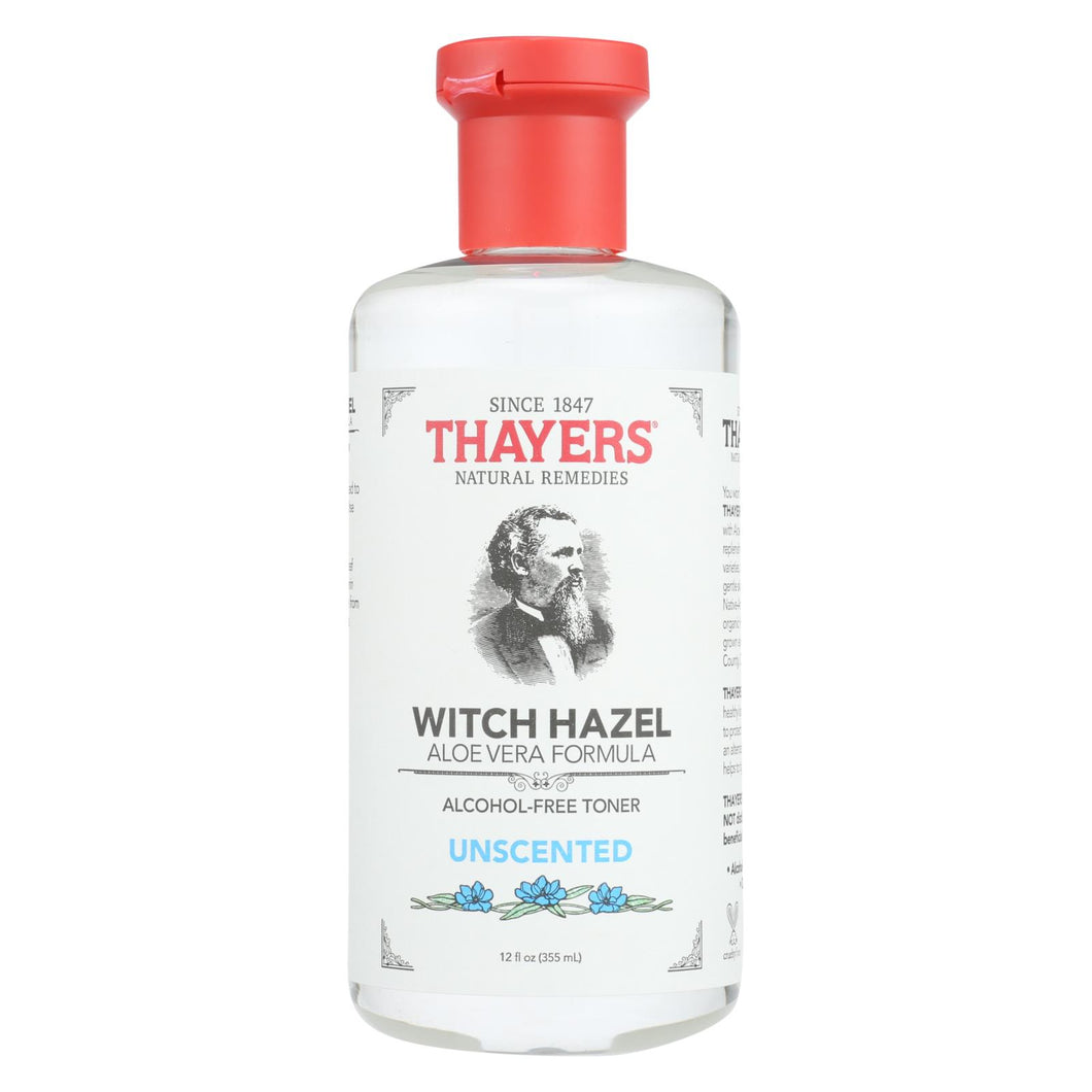 Thayers Witch Hazel With Aloe Vera Unscented - 12 Fl Oz