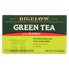 Load image into Gallery viewer, Bigelow Tea Green Tea With Mango - Case Of 6 - 20 Bag