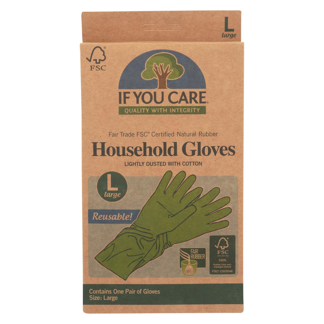 If You Care Household Gloves - Large - 12 Pairs
