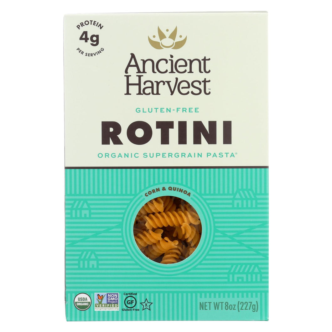 Ancient Harvest Organic Gluten Free Quinoa Supergrain Pasta - Rotelle - Case Of 12 - 8 Oz