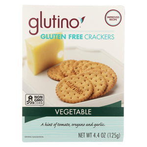 Glutino Vegetable Crackers - Case Of 6 - 4.4 Oz.