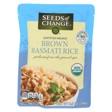 Load image into Gallery viewer, Seeds Of Change Organic Rishikesh Brown Basmati Rice - Case Of 12 - 8.5 Oz.