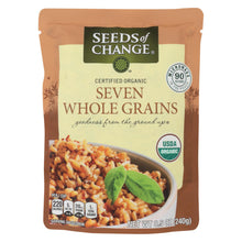 Load image into Gallery viewer, Seeds Of Change Organic Microwavable Seven Whole Grains - Case Of 12 - 8.5 Oz.