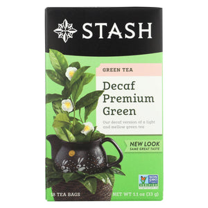 Stash Tea Decaf Tea - Premium Green - Case Of 6 - 18 Bags