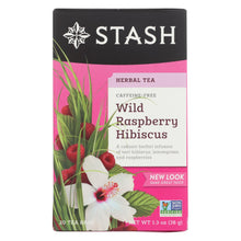 Load image into Gallery viewer, Stash Tea Hibiscus Herbal?tea - Wild Raspberry - Case Of 6 - 20 Bags