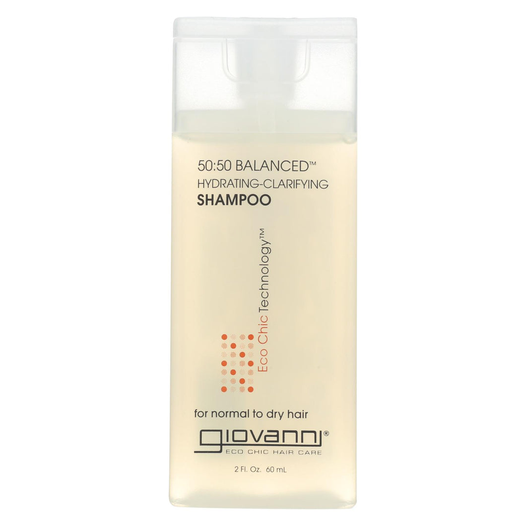 Giovanni Hair Care Products 50-50 Balanced Shampoo - Case Of 12 - 2 Fl Oz