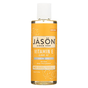 Jason Vitamin E Pure Natural Skin Oil - 5000 Iu - 4 Fl Oz