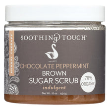 Load image into Gallery viewer, Soothing Touch Brown Sugar Scrub - Chocolate-peppermint - 16 Oz