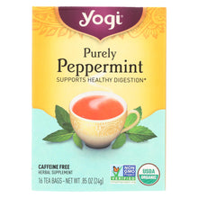 Load image into Gallery viewer, Yogi Organic Herbal Tea Caffeine Free Purely Peppermint - 16 Tea Bags - Case Of 6