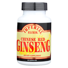 Load image into Gallery viewer, Imperial Elixir Chinese Red Ginseng - 500 Mg - 50 Capsules