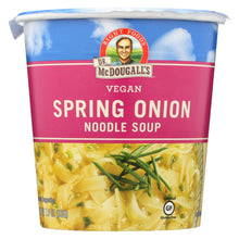 Load image into Gallery viewer, Dr. Mcdougall's Vegan Spring Onion Noodle Soup Big Cup - Case Of 6 - 1.9 Oz.