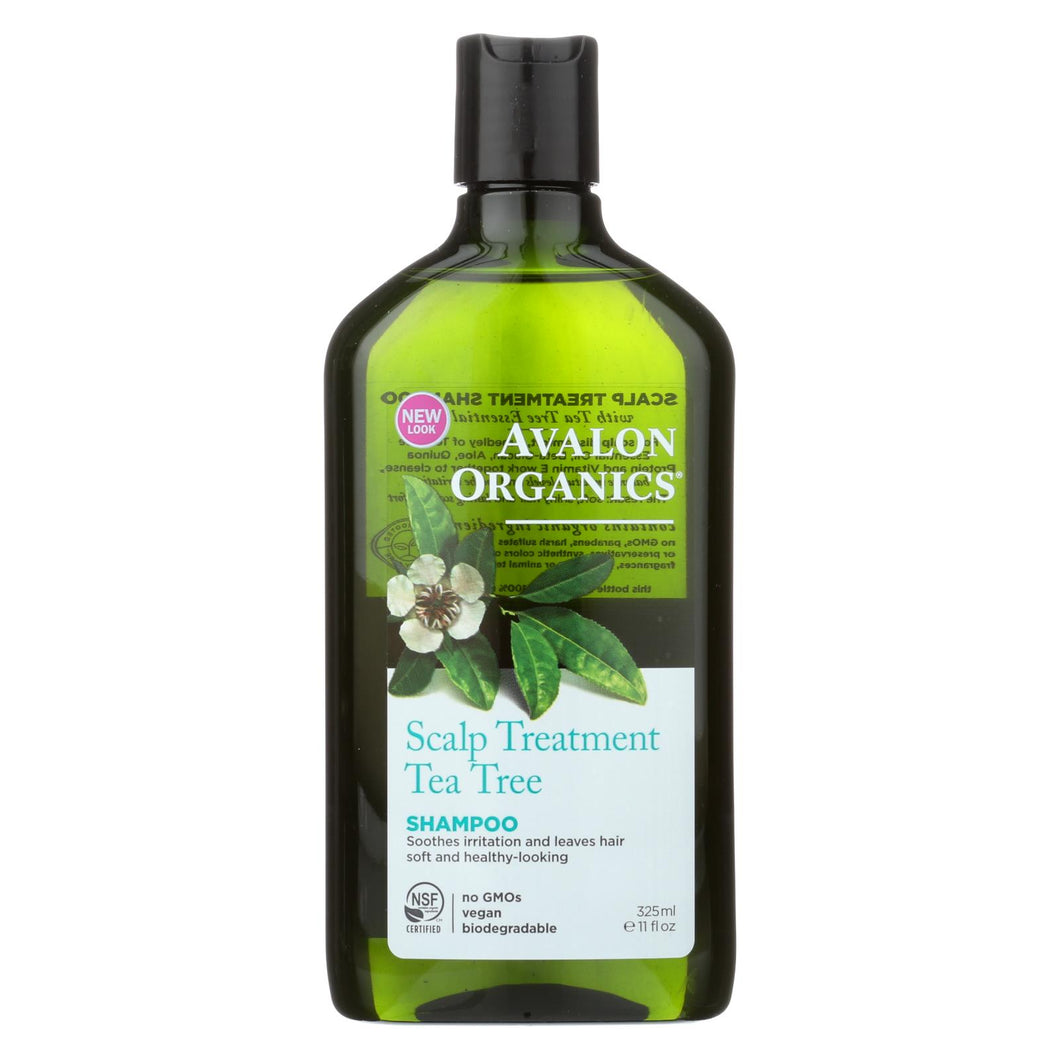 Avalon Organics Scalp Treatment Tea Tree Shampoo - 11 Fl Oz