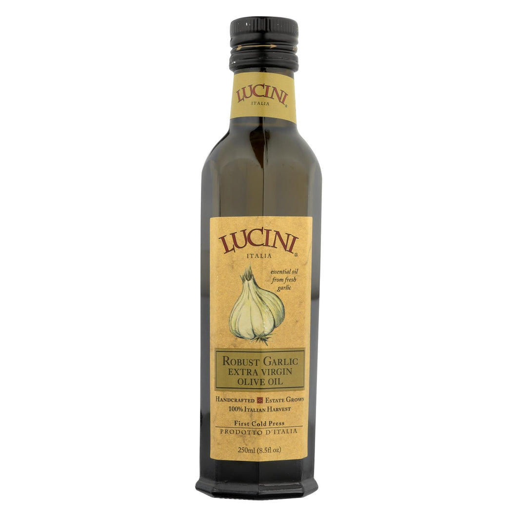 Lucini Italia Robust Garlic Extra Virgin Olive Oil - Case Of 6 - 8.5 Fl Oz.