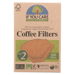 If You Care Coffee Filters - #2 Cone - Case Of 12 - 100 Count