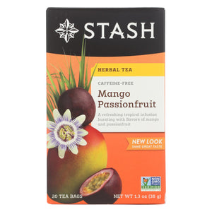 Stash Tea Passionfruit Herbal?tea - Mango - Case Of 6 - 20 Count