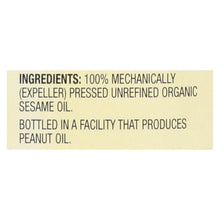 Load image into Gallery viewer, Spectrum Naturals Organic Unrefined Sesame Oil - Case Of 6 - 8 Fl Oz.