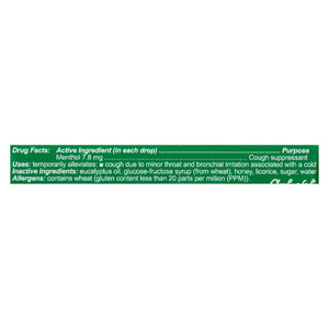 Honees Cough Drops - Menthol - Case Of 24 - 9 Pack