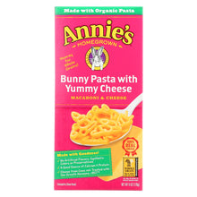 Load image into Gallery viewer, Annies Homegrown Macaroni And Cheese - Organic - Bunny Pasta With Yummy Cheese - 6 Oz - Case Of 12
