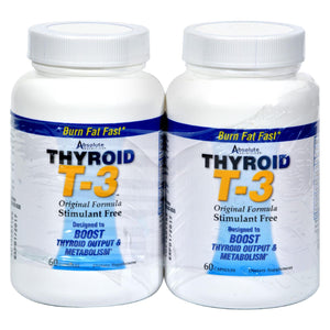 Absolute Nutrition - Thyroid T-3 - 60 Capsules Each - Pack Of 2