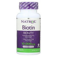 Load image into Gallery viewer, Natrol Biotin - 10000 Mcg - 100 Tablets