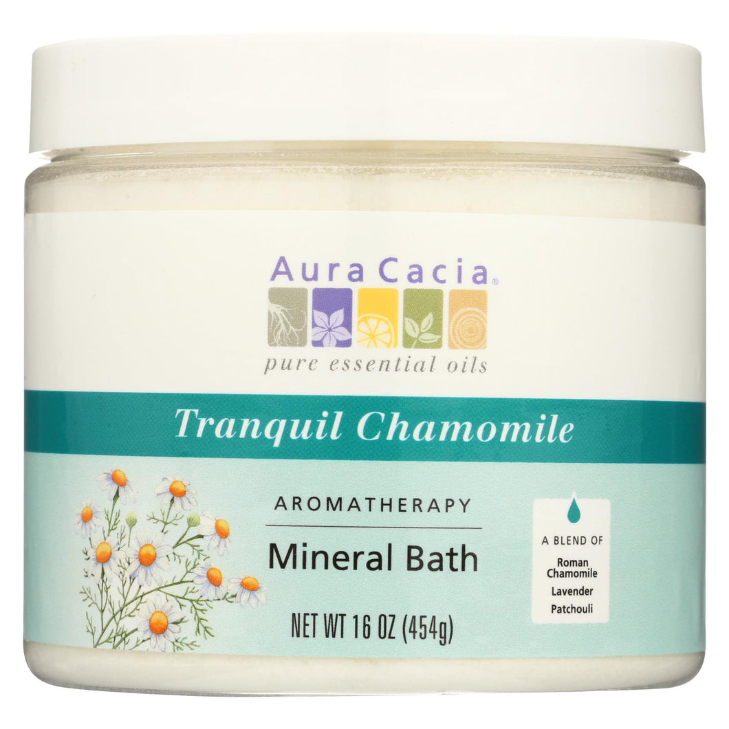 Aura Cacia - Aromatherapy Mineral Bath Tranquility Chamomile - 16 Oz