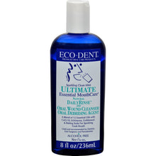 Load image into Gallery viewer, Eco-dent Dailyrinse Mouthrinse - Mint - 8 Oz