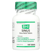 Load image into Gallery viewer, Bhi - Sinus Relief - 100 Tablets