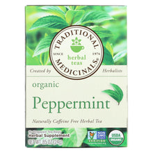 Load image into Gallery viewer, Traditional Medicinals Organic Peppermint Herbal Tea - Caffeine Free - Case Of 6 - 16 Bags