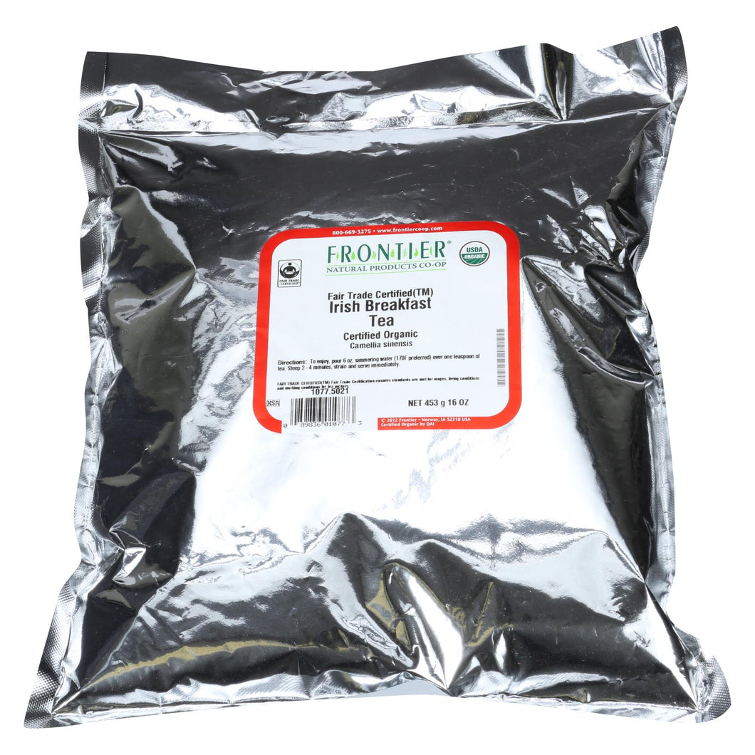 Frontier Herb Tea - Organic - Fair Trade Certified - Black - Irish Breakfast Blend - Bulk - 1 Lb
