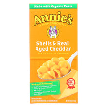 Load image into Gallery viewer, Annies Homegrown Macaroni And Cheese - Organic - Shells And Real Aged Cheddar - 6 Oz - Case Of 12