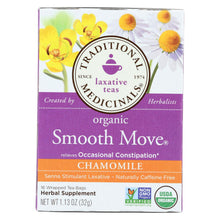Load image into Gallery viewer, Traditional Medicinals Organic Smooth Move Chamomile Herbal Tea - 16 Tea Bags - Case Of 6