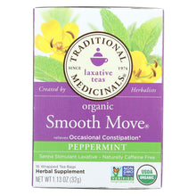 Load image into Gallery viewer, Traditional Medicinals Organic Smooth Move Peppermint Herbal Tea - 16 Tea Bags - Case Of 6