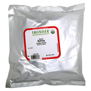 Frontier Herb Nutmeg - Organic - Ground - Bulk - 1 Lb