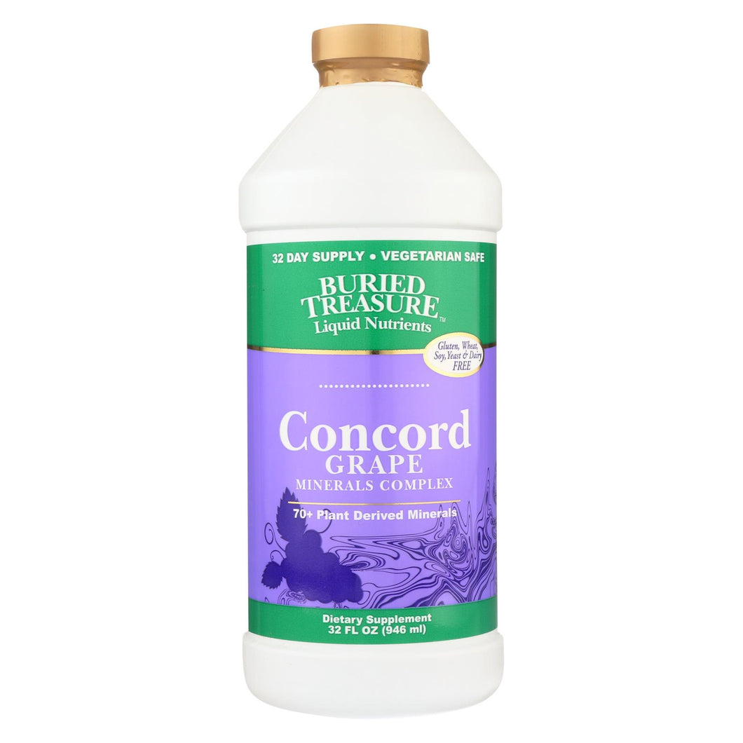 Buried Treasure - 70 Plus Plant Derived Minerals Concord Grape - 32 Fl Oz