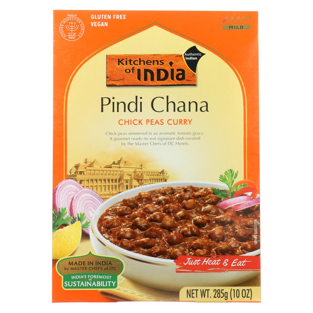 Kitchen Of India Dinner - Chick Peas Curry - Pindi Chana - 10 Oz - Case Of 6