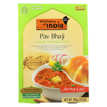 Load image into Gallery viewer, Kitchen Of India Dinner - Mashed Vegetable Curry - Pav Bhaji - 10 Oz - Case Of 6