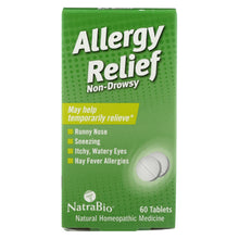Load image into Gallery viewer, Natrabio Allergy Relief Non-drowsy - 60 Tablets