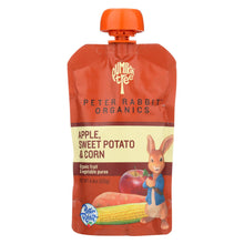 Load image into Gallery viewer, Peter Rabbit Organics Veggie Snacks - Sweet Potato, Corn And Apple - Case Of 10 - 4.4 Oz.