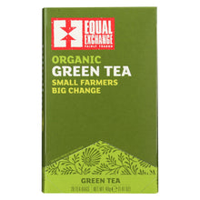 Load image into Gallery viewer, Equal Exchange Organic Green Tea - Green Tea - Case Of 6 - 20 Bags