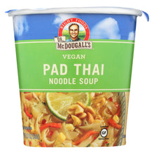 Load image into Gallery viewer, Dr. Mcdougall's Vegan Pad Thai Noodle Soup Big Cup - Case Of 6 - 2 Oz.