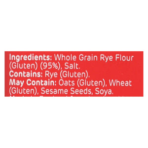 Ryvita Crisp Bread Crispbread - Dark Rye - Case Of 10 - 8.8 Oz.