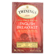 Load image into Gallery viewer, Twining's Tea English Breakfast Tea - Black Tea - Case Of 6 - 20 Bags