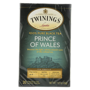 Twining's Tea Black Tea - Prince Of Wales - Case Of 6 - 20 Bags