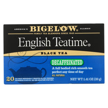 Load image into Gallery viewer, Bigelow Tea English Teatime Decaffeinated Black Tea - Case Of 6 - 20 Bags