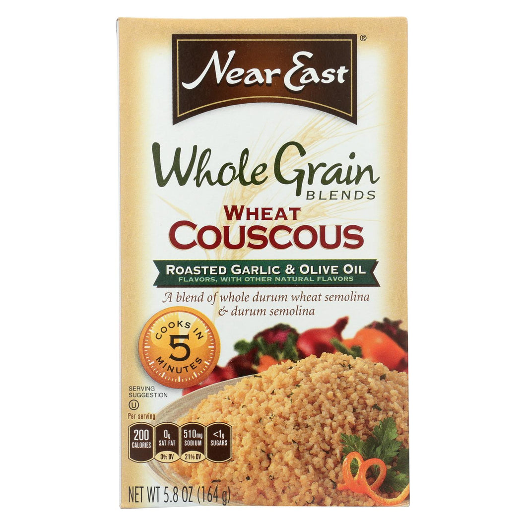 Near East Whole Wheat Couscous - Roasted Garlic And Olive Oil - Case Of 12 - 5.8 Oz.