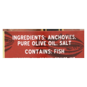 Crown Prince Flat Fillets Of Anchovies In Pure Olive Oil - Case Of 18 - 1.5 Oz.